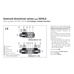 Solenoid directional valves type SDHL8