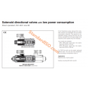 Solenoid directional valves with low power consumption DHO-8W, DHE-15W