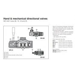 Hand & mechanical directional valves DH,DK,DP Mechanical