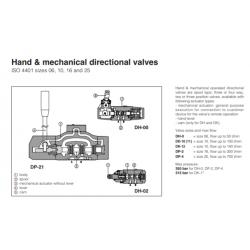 Hand & mechanical directional valves DH,DK,DP Mechanical