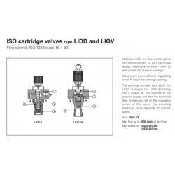 ISO cartridge valves type LIDD and LIQV LIQV, LIDD