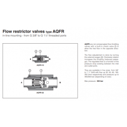 Flow restrictor valves type AQFR