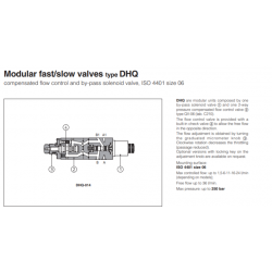 Mudular fast/slow valves type DHQ