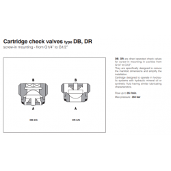 Cartridge check valves type DB, DR