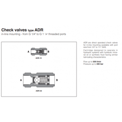 Check valves type ADR