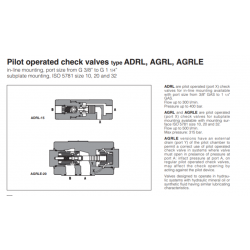 Pilot operated check valves type ADRL, AGRL, AGRLE ADRL