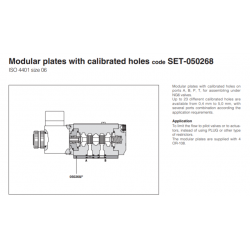 Modular plates with calibrated holes code SET-050268