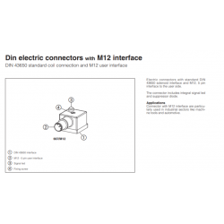 Din electric connectors with M12 interface DIN Connectors