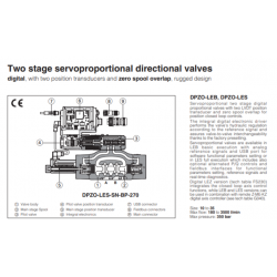 Two stage servoproportional directional valves DPZO-LES