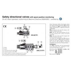 Safety directional valves with spool position monitoring DHI-FV, DHE-FV, DKE-FV