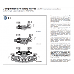 Complementary safety valves with FC mechanical microswitches DH-FC, DK-FC