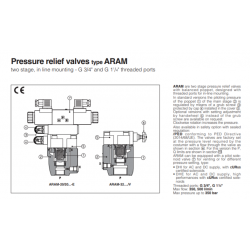 Peressure relief valves type ARAM