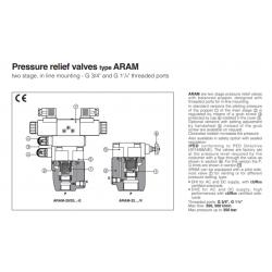 Peressure relief valves type ARAM