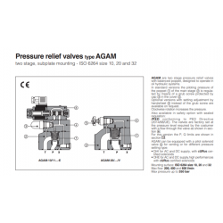 Peressure relief valves type AGAM