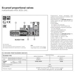 Ex-proff proportional valves RZGA-A,HZGA-AES,KZGA-A