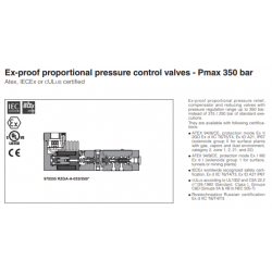 Ex-proof proportional pressure control valves Pmax 350 bar