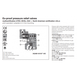 Ex-proof pressure relief valves AGAM-AO,ARAM-AO