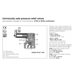 Intrinsically safe pressure relief valves AGAM-WO,ARAM-WO