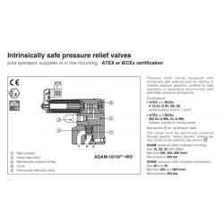 Intrinsically safe pressure relief valves AGAM-WO,ARAM-WO