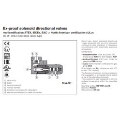 Ex-proof solenoid directional valves DHA