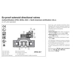Ex-proof solenoid directional valves DPHA