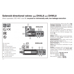 Solenoid directional valves type DHAL8, DHWL8