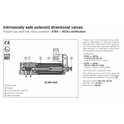 Intrinsically safe solenoid directional valves DLWH