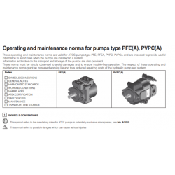 Operating and maintenance norms for pumps type PFE-A,PVPC-A
