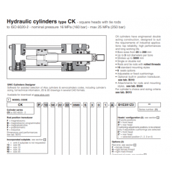 Hydraulic cylinders type CK square heads with tie rods CK