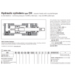 Hydraulic cylinders type CH square heads with counterflianges CH