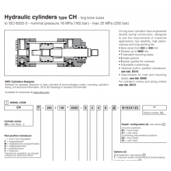 Hydarulic cylinders type CH big bore sizes CH Big Bores