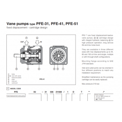 Vane pumps type PFE-31, PFE-41, PFE-51 PFE-31,41,51