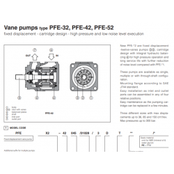 Vane pumps type PFE-32, PFE-42, PFE-52 PFE-32,42,52