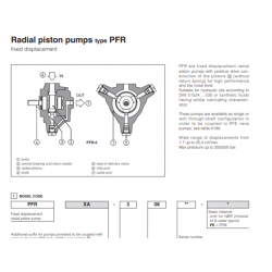 Radial piston pumps type PFR 2,3,5
