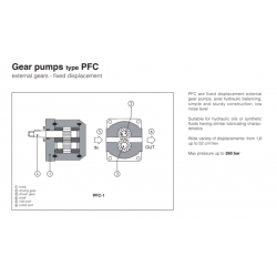 Gear pumps type PFC