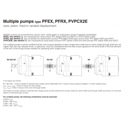 Multiple pumps type PFEX,PFRX,PVPCX2E