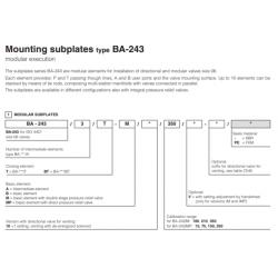 Mounting subplates type BA-243