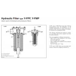 Hydraulic Filter type Y-FPF, Y-FMP X-FMP