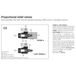 Proportional relief valves SRZME-A,CART SRZME-A