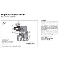 Proportional relief valves SAGMZE-A
