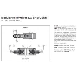 Modular relief valves type SHMP, SKM