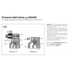 Pressure relief valves type SAGAM