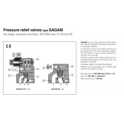 Pressure relief valves type SAGAM