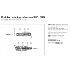 Modular reducing valves type SHG, SKG