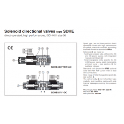 Solenoid directional valves type SDHE