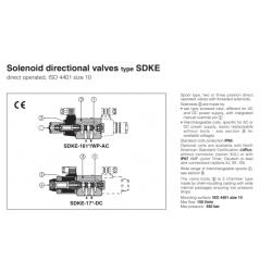Solenoid directional valves type SDKE