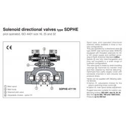 Solenoid directional valves type SDPHE