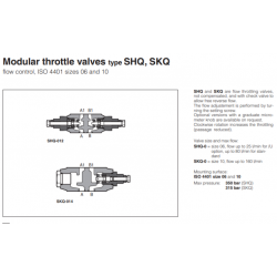 Modular throttle valves type SHQ, SKQ