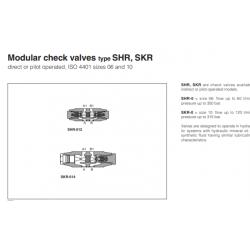 Modular check valves type SHR, SKR