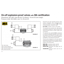 On-off explosion-proof valves with MA certification SAGAM-MA
